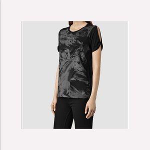 All Saints Tops - ▪️All Saints▪️Equus Mazzy cold shoulder T-shirt